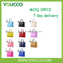 China wholesale factory stands womens leather custom handles handbag