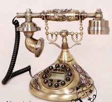 Antique Retro Corded Telephone Decorative Vintage Home Phone For Gift