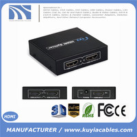 HD 1080P 2 port HDMI Splitter Amplifier 4k 1 In 2 Out 1x2 HDMI Switcher With Power Adapter