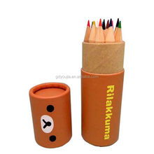 Circular Cap Cylinder Paper Printing Office Pen Box Packaging