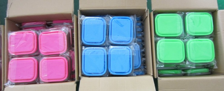 Promotional Microwave Safe Silicone School Collapsible Children Lunch Box