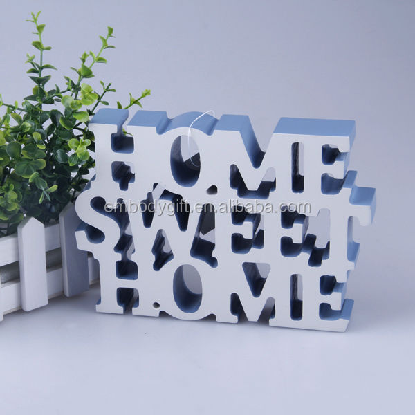 Beautiful home decorative white wooden alphabet letters