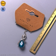Sinicline kraft necklace display card customized with single color logo