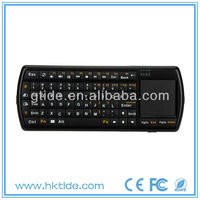 2013 hot selling universal remote qwerty white wireless keyboard with touchpad