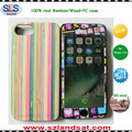 2016 New custom real colored bamboo wood pc phone case for iphone 6 7 plus IPC368B