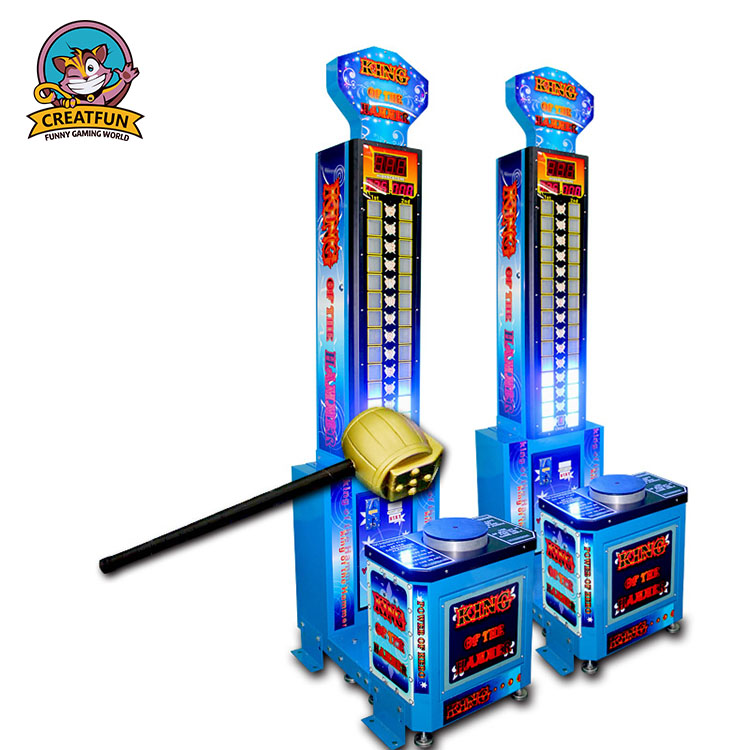 Coin operated arcade hammer game lottery ticket machine for kids