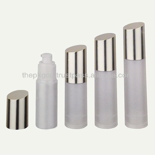30, 40 & 50ml Plastic Airless Bottle w/slanted cap (135AB-JS-R01 Series)
