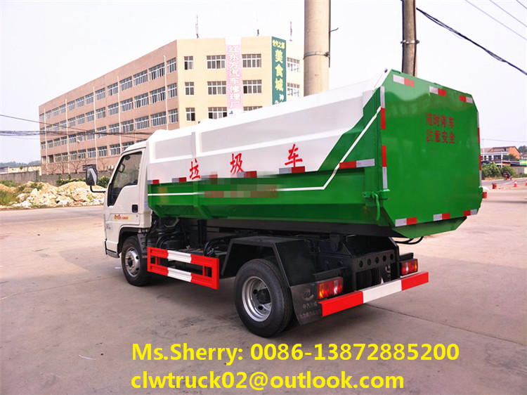 Factory direct sale Foton 3m3 small waste collector truck hydraulic lifter garbage truck in Malaysia