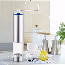 Manual Coffee Grinder Conical Ceramic Burr Mill. Brushed Stainless Steel BUILT TO LAST Makes Hand Ground Coffee Beans