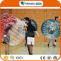 Good price bumper ball/soccer bubble/inflatable body bumper ball for adult