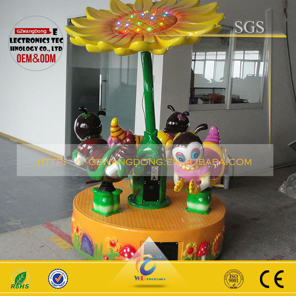 2015 factory outlet fiber glass kiddie ride used merry go rounds for sale