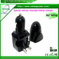 2016 two in one car charger wall charger black /white car charger with certifications