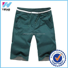Yihao Trade Assurance Elastic Waist Man Short Summer cheap shorts for men 2015 Top Fashion Straight Slim bermuda shorts