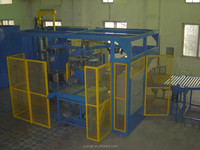 Three station radial tyre inner coating machine