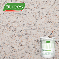 3TREES wall coating sand rock-chip textured exterial acrylic water based lacquer