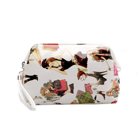 shiny PU heat-transfer printing Cosmetic bag luxury cosmetic bag