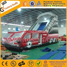 fire truck design inflatable hippo slide A4041