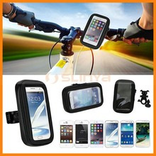 Universal Bike Bicycle Phone Mount Holder Waterproof Case Cover, Motocycle Handlebar Bracket Bag Base