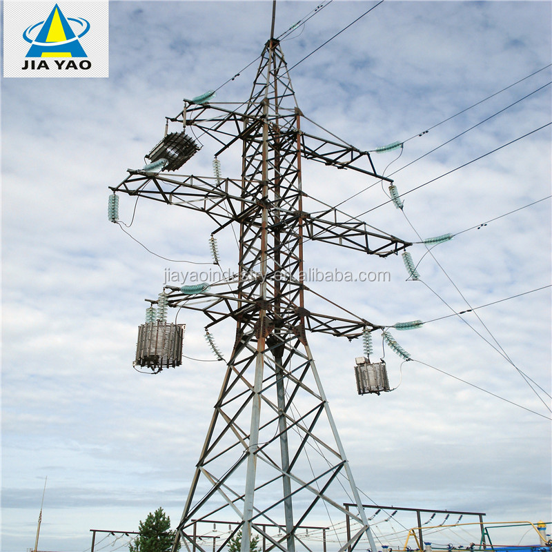 High Voltage double circuit 30kv distribution tower