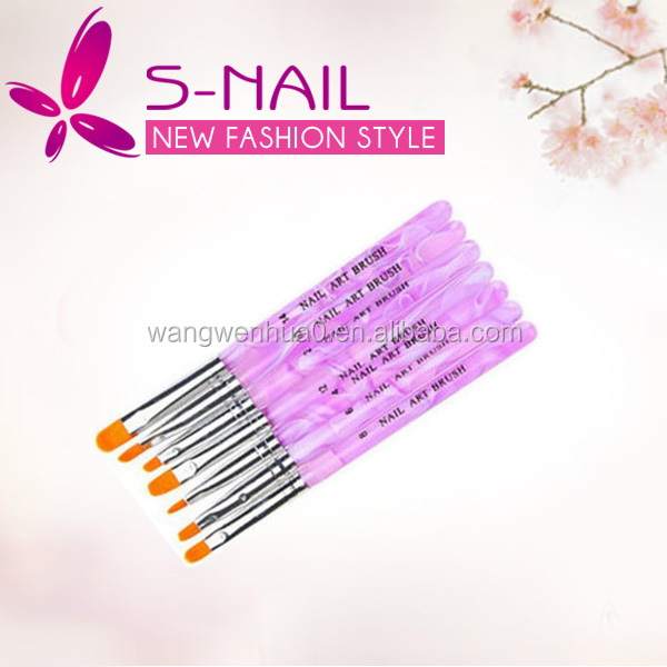 Hot sell 7 Pcs nail art brush, nail art brush set, crystal nail brush