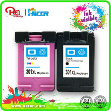 remanufactured ink cartridge,hot new products for 2015 for HP 301XL show ink volume