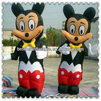Mickey mouse mascot cartoon costume