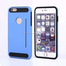 hot selling 2 in 1 PC+TPU credit card cell phone case for iphone6 6s plus 5.5 inch