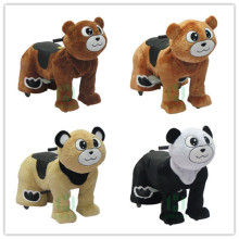 HI CE Fashion teddy bear animal scooter/ plush electric ride on horse /coin operated animal ride