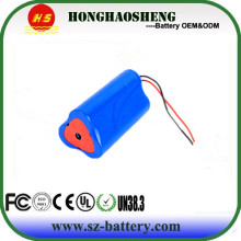 Rechargeable Li-ion 3S1P 18650 10.8v 2250mah Lithium ion battery pack for medical device