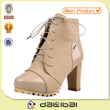 8.5cm high heel apricot color fancy luxury canada winter snow boots for women