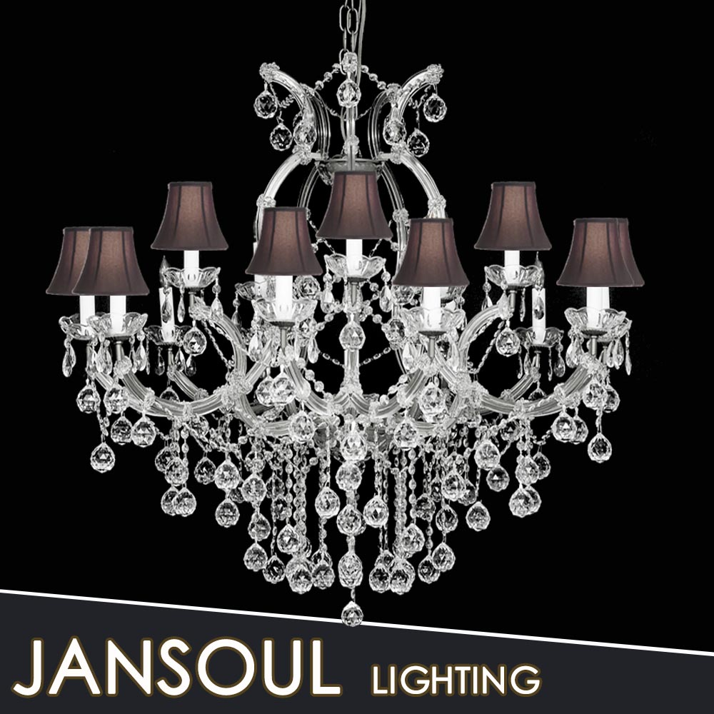 China new product lamp shde crystal chandelier living hall decor