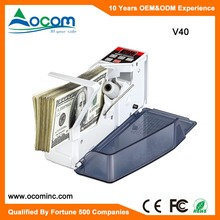 V40: Mini Portable Shop Cash Money Bill Banknote Counter Machine