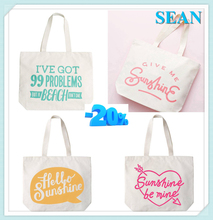 Promotional Eco friendly Cotton Canvas Cloth Personalized Fancy Reusable Shopping Bag Design