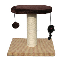 Simple Sisal rope Cat Tree Cat Scratching Post with Play Plate