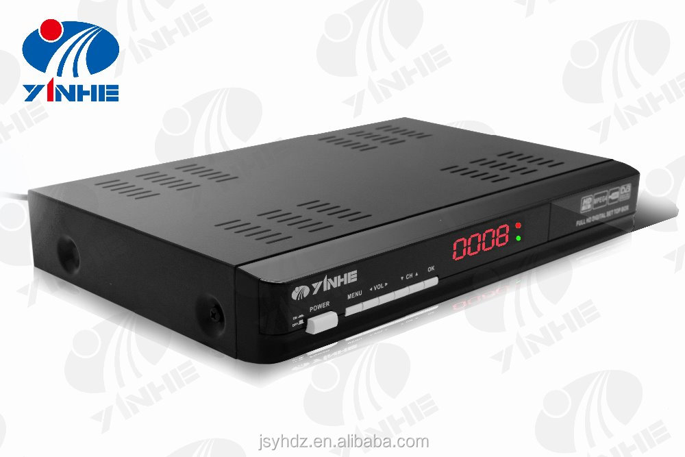TV set top box DVB-T2 receiver with H.265 HD output MPEG4 USB2.0 PVR recoder RCA multi language