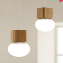 China decorative wooden pendant light for bedroom