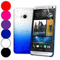Nice 3D Waterdrop Raindrop Hard Back Case Cover for HTC One M7