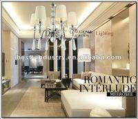 2013 empire style lighting chandelier crystal for hotel/home made in China,Meerosee Lighting