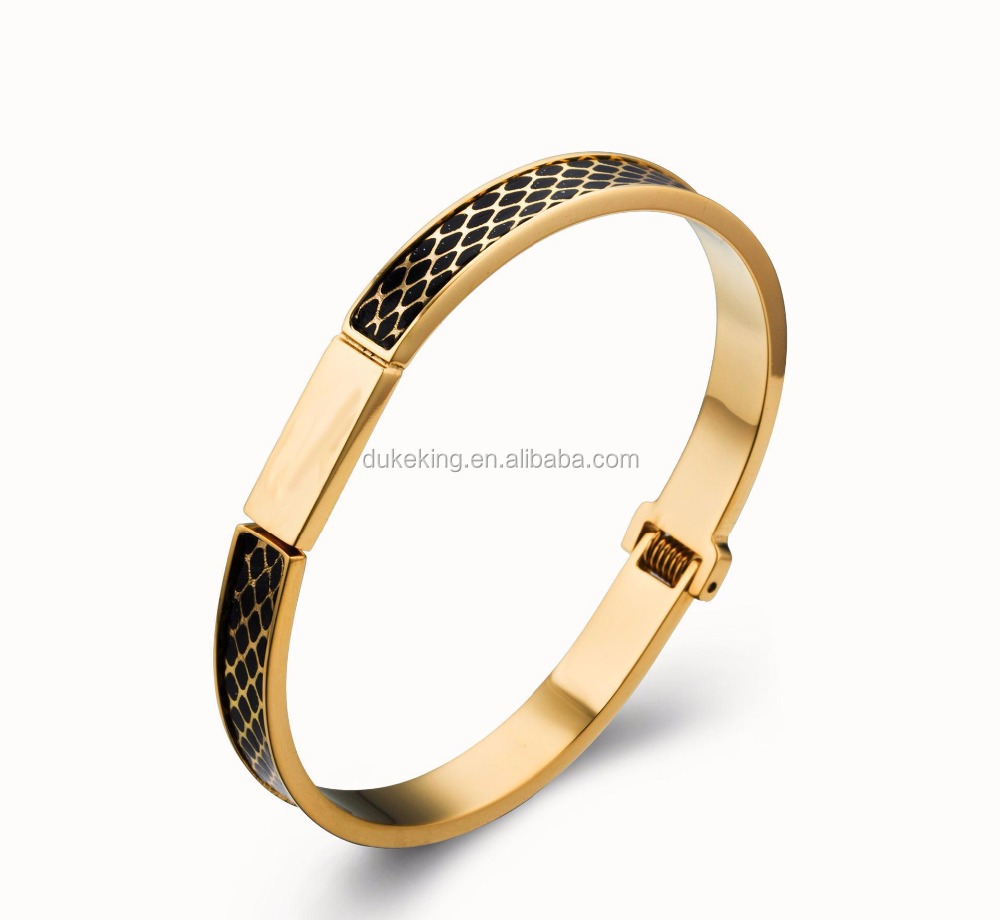 Magnetic Bracelet Fancy Bangle With Black Epoxy with Factory Price