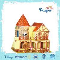 Arts and craft diy product toys house puzzle for kids