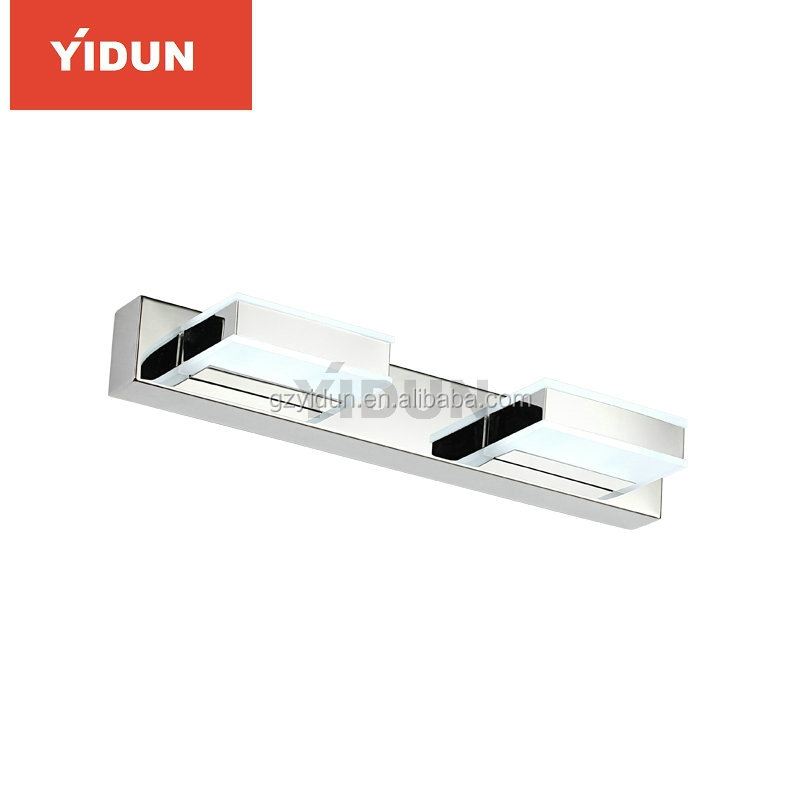 SMD5630 led mirror light chrome waterproof bathroom light fixtures Stainless Steel + Acrylic
