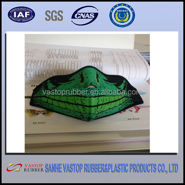 SGS Custom Printing Neoprene Motorcycle Face Mask for Outdoor Sports