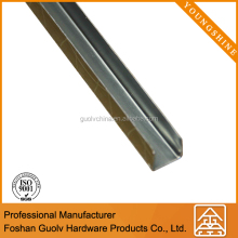 Easy to install stainless steel floor edging for ceramic tile edge