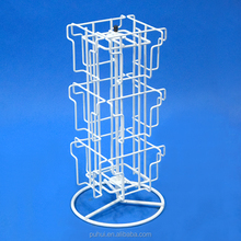 Counter Top Retail Shop Steel Greeting Cards Spinner Display Rack