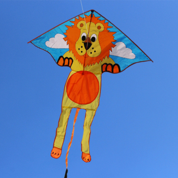 single line lion delta kite