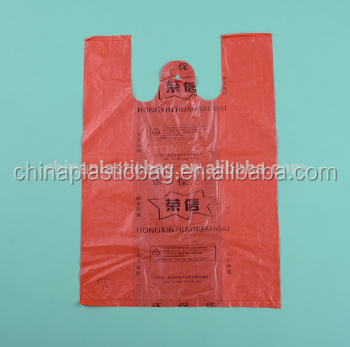 oxo biodegradable plastic t-shirt bag from china manufacturer