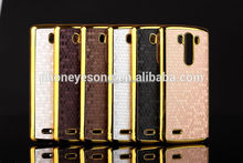 For LG G3 Football lines gold bling bling metal phone cover case