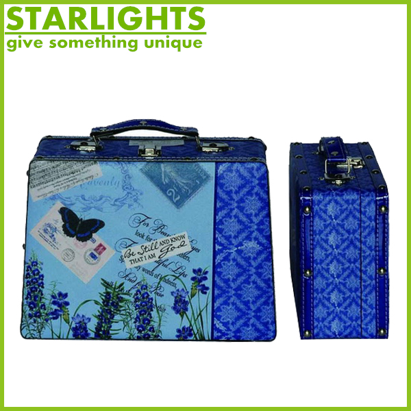 hot sell canvas suitcase with the Statue of Liberty