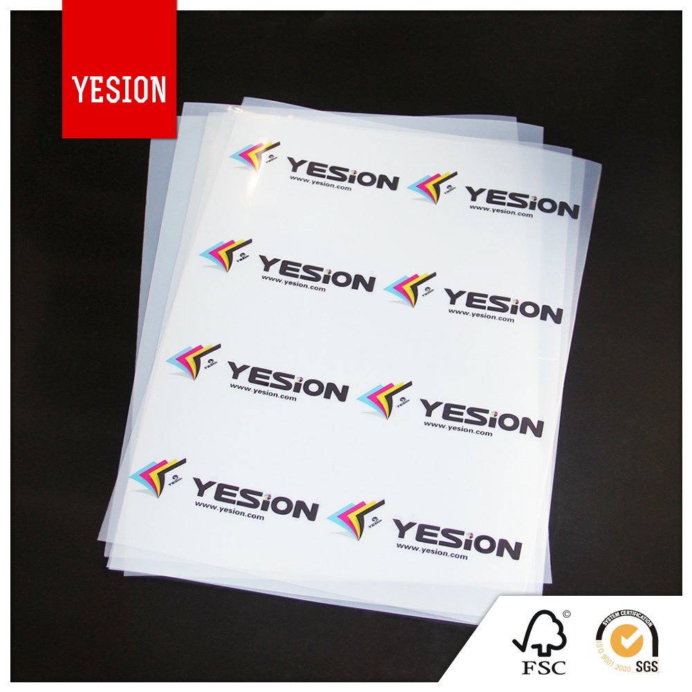 Yesion Inket Transparency Film, A4 Transparency PET Film For Inkjet Printers