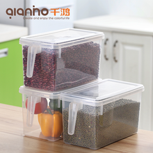 Cheap eco friendly kitchen chinese food box clear plastic 10 15 20 25kg rice grain storage containers with lid for sale
